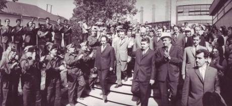 1968 - Vizita la Combinatul siderurgic Resita