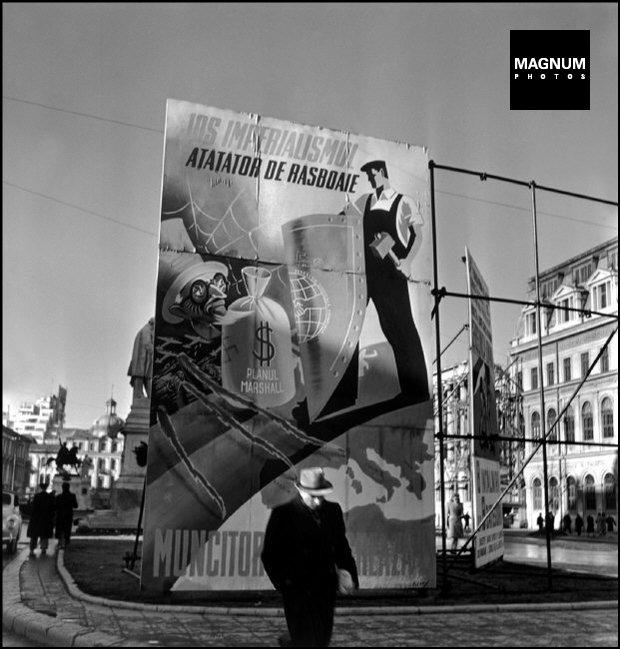 "ROMANIA. Bucharest. ""Beware of US Imperialism"". 1947."